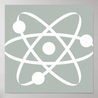 Atome de gris de cendre posters
