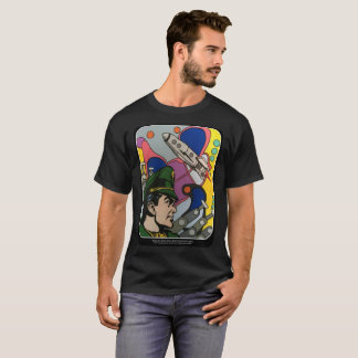 Atomic Abstract the Rocket Captain painting on a T-Shirt