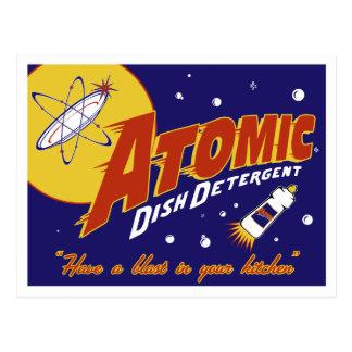 Atomic Age Postcard: Atomic Dish Detergent Postcard