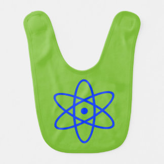 atomic bib - blue & green