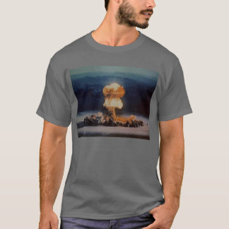 Atomic Bomb Blast, Blue with Lightning Bolt T-Shirt