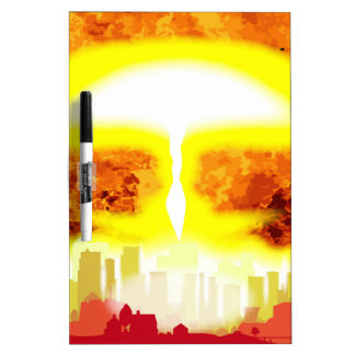Atomic Bomb Heat Background Dry-Erase Boards