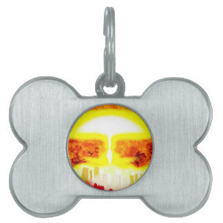 Atomic Bomb Heat Background Pet Tags