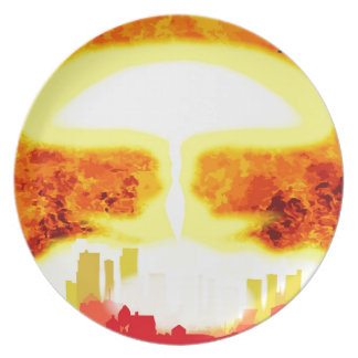 Atomic Bomb Heat Background Plate
