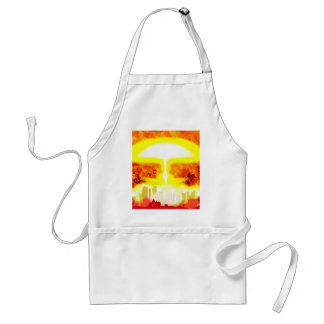 Atomic Bomb Heat Background Standard Apron