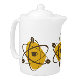 atomic coffee beans Pour Over Coffee Pot in gold