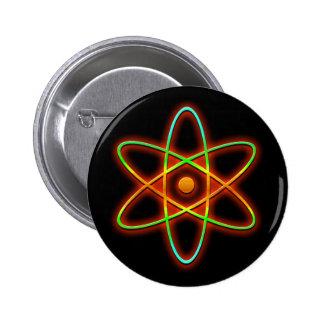 Atomic concept. 2 inch round button