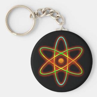 Atomic concept. basic round button keychain