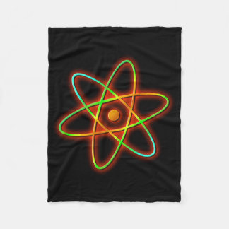 Atomic concept. fleece blanket