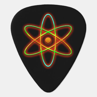 Atomic concept. guitar pick