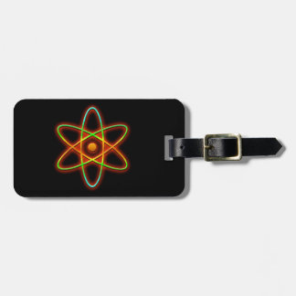 Atomic concept. luggage tag