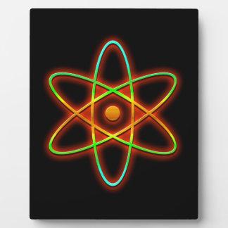 Atomic concept. plaque