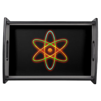Atomic concept. serving tray