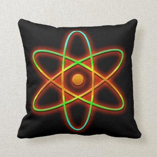 Atomic concept. throw pillow