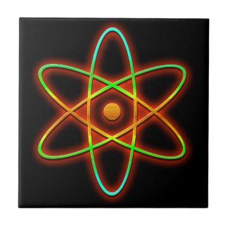 Atomic concept. tile