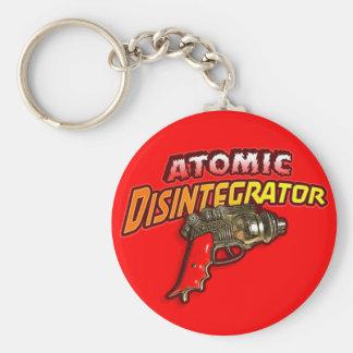 Atomic Disintegrator Basic Round Button Keychain