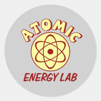 Atomic Energy Lab Classic Round Sticker