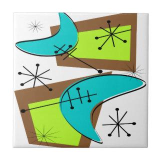 Atomic Era Inspired Boomerang Design Tile