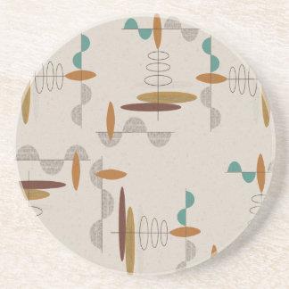 Atomic Era Mid-Century Modern Abstract Coaster