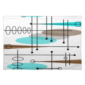 Atomic Era Mid-Century Modern Abstract Placemat