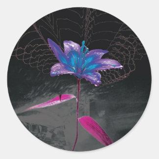 Atomic Flower Round Sticker