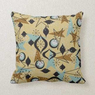 Atomic Gold and Black, Arrows Fifties Throw Pillow