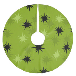 Atomic Green Starbursts Christmas Tree Skirt