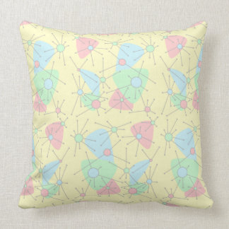 Atomic in Pastels Throw Pillow