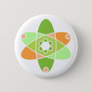 Atomic Kiwi 2 Inch Round Button