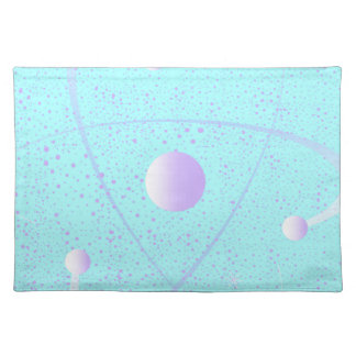 Atomic Mass Structure Background Placemat
