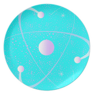 Atomic Mass Structure Background Plate