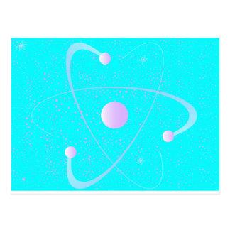 Atomic Mass Structure Background Postcard