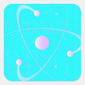 Atomic Mass Structure Background Square Sticker