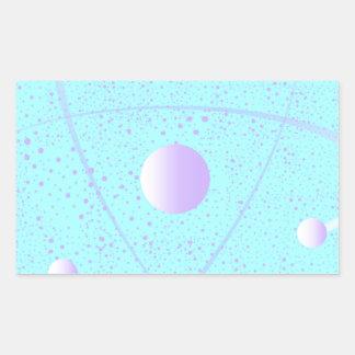 Atomic Mass Structure Background Sticker
