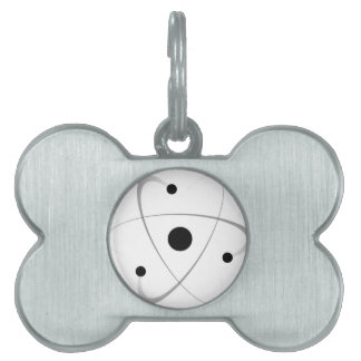 Atomic Mass Structure Pet ID Tags