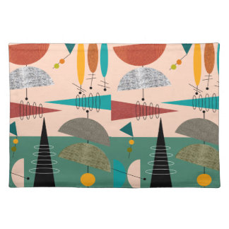Atomic Mid-Century Abstract Placemats #89