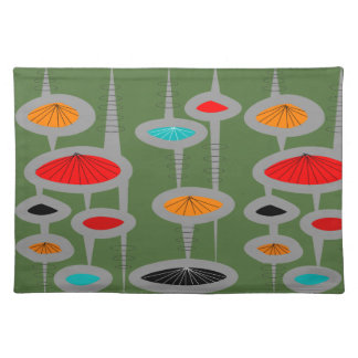 Atomic Mid-Century Inspired Pattern Placemat