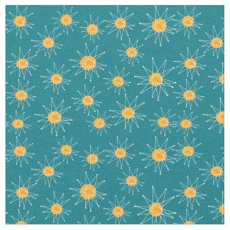 Atomic Mid-Century Starburst Pattern Fabric