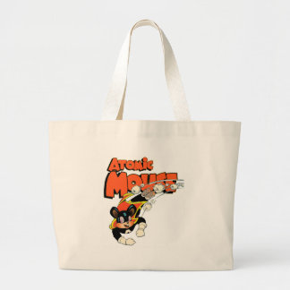 Atomic Mouse cute cartoon art superhero Large Tote Bag