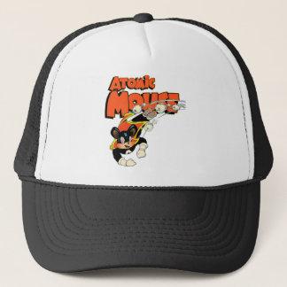 Atomic Mouse cute cartoon art superhero Trucker Hat