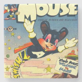 Atomic Mouse No.1 Stone Beverage Coaster