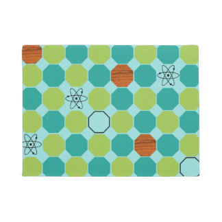 Atomic Octagons Door Mat
