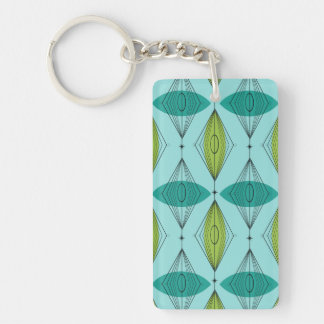 Atomic Ogee and Starbursts Acrylic Keychain