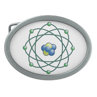 Atomic Particle Super Hero Oval Belt Buckles