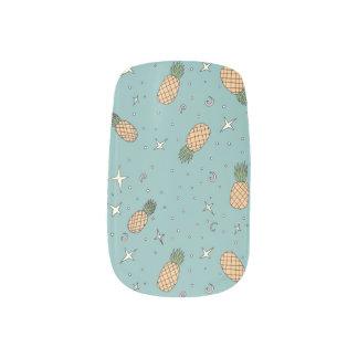 Atomic Pineapple Minx Nail Art