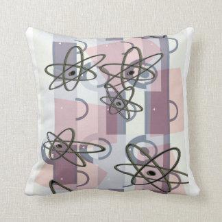 Atomic Pink Throw Pillow