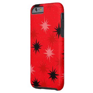 Atomic Red Starbursts iPhone 6/6S Case