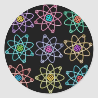 Atomic Structure Pattern Classic Round Sticker