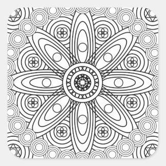 Atomic Structures Mandala Square Sticker