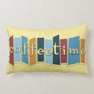Atomic Style Retro Coffeetime Lumbar Pillow